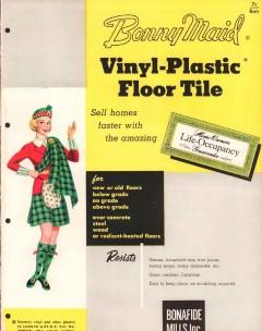 Bonafide Mills Inc 1956 Vintage Catalog Tile Vinyl-Plastic Bonny Maid