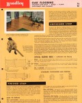 Bradley Lumber Company 1956 Vintage Catalog Flooring Strip Block Oak