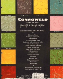 Consoweld Corp 1956 Vintage Catalog Walls Cabinets Plastic Surfacing