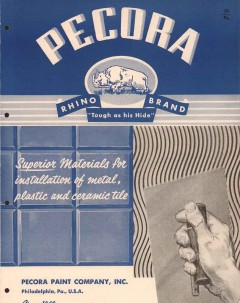 Pecora Paint Company 1956 Vintage Catalog Plastic Metal Ceramic Mastic