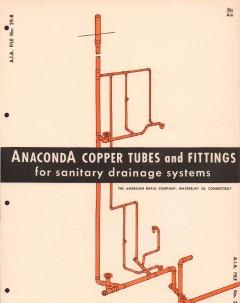 American Brass Company 1956 Vintage Catalog Anaconda Copper Tube Drain