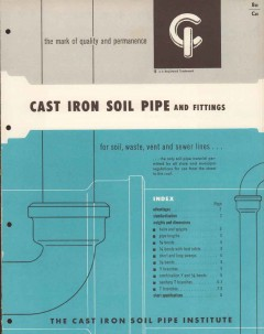 Cast Iron Soil Pipe Institute 1956 Vintage Catalog Plumbing Fittings