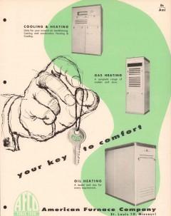 American Furnace Company 1956 Vintage Catalog Heating Oil Comfortmaker