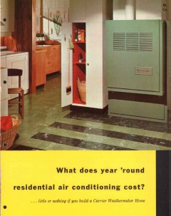 Carrier Corp 1956 Vintage Catalog Weathermaker Air Conditioning