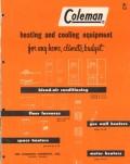 Coleman Company 1956 Vintage Catalog Heating Asbestos Floor Furnace