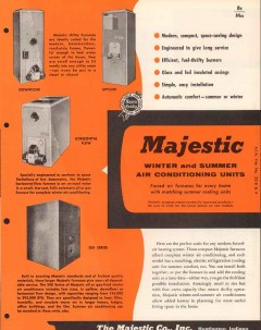 Majestic Company 1956 Vintage Catalog Winter Summer Air Conditioning