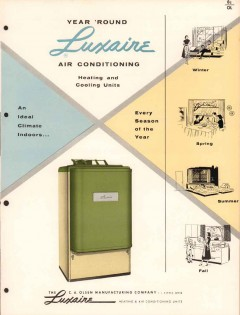 C A Olsen Mfg Company 1956 Vintage Catalog Luxaire Air Conditioning