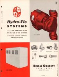 Bell Gossett Company 1956 Vintage Catalog Heating Hydro-Flo Hot Water