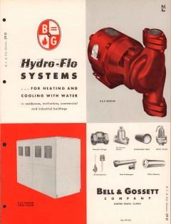 Bell Gossett Company 1956 Vintage Catalog Heating Hydro-Flo Hot Water
