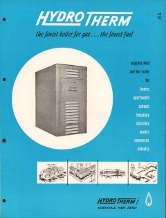 Hydrotherm Inc 1956 Vintage Catalog Heating Hot Water Gas Boiler Home