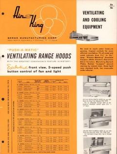 Berns Mfg Corp 1956 Vintage Catalog Fans Ventilating Air King Exhaust