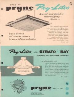 Pryne Company 1956 Vintage Catalog Lighting Electrical Pry-Lites
