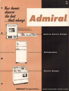 Admiral Corp 1956 Vintage Catalog Appliances Ranges Refrigerators