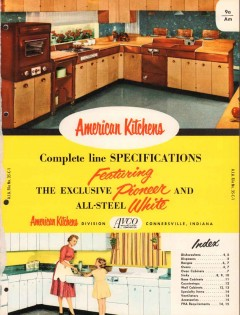 Avco Mfg Corp 1956 Vintage Catalog American Kitchens Cabinet Oven Sink