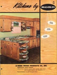 Boro Wood Products Company 1956 Vintage Catalog Kitchen Cabinets