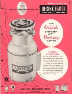 In-Sink-Erator Mfg Company 1956 Vintage Catalog Food Waste Disposer