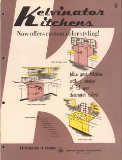 American Motors Corp 1956 Vintage Catalog Appliance Kelvinator Kitchen