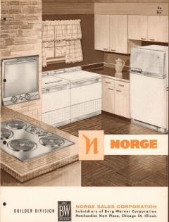 Borg-Warner Corp 1956 Vintage Catalog Appliance Norge Washer Dryer