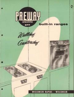 Preway Inc 1956 Vintage Catalog Appliance Wallchef Counterchef Ranges