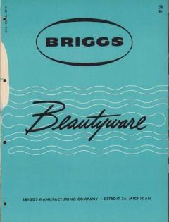 Briggs Mfg Company 1956 Vintage Catalog Bathroom Beautyware Color