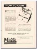 American Dry Milk Institute Inc 1933 Vintage Ad Ice Cream Dahle Values