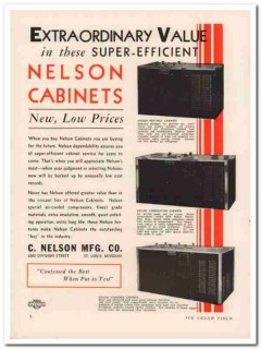 C Nelson Mfg Company 1933 Vintage Ad Ice Cream Cabinets Extraordinary