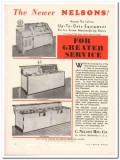 C Nelson Mfg Company 1933 Vintage Ad Ice Cream Cabinet Newer Equipment