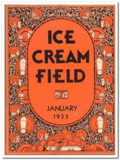 ice cream field 1933 january art deco magazine cover vintage print