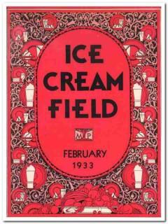 ice cream field 1933 february art deco magazine cover vintage print