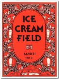ice cream field 1933 march art deco magazine cover vintage print