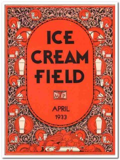 ice cream field 1933 april art deco magazine cover vintage print
