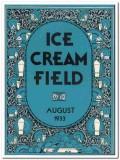 ice cream field 1933 august art deco magazine cover vintage print