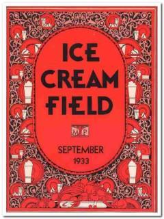 ice cream field 1933 september art deco magazine cover vintage print