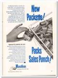 Marathon Corp 1952 Vintage Ad Ice Cream Cartons Linerless Packette