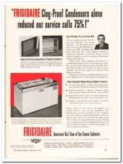 J H Brokhoff Inc 1952 Vintage Ad Ice Cream Cabinets Frigidaire