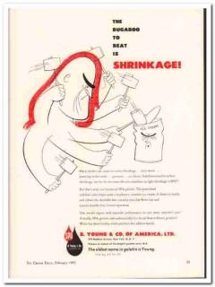 B Young Company 1952 Vintage Ad Ice Cream Gelatin Stabilizer Shrinkage