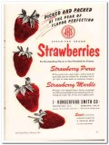 J Hungerford Smith Company 1951 Vintage Ad Ice Cream Strawberries