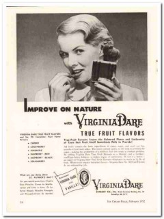 Virginia Dare Extract Company 1952 Vintage Ad Ice Cream Fruit Flavors