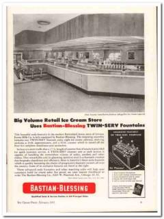 Bastian-Blessing Company 1952 Vintage Ad Ice Cream Iowana Farms Milk