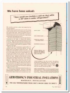 armstrong cork company 1952 industrial insulation materials vintage ad