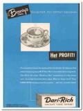 boweys inc 1952 dari-rich hot chocolate flavor supreme vintage ad