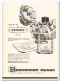 brockway glass company 1952 finest sani-glas bottle medical vintage ad