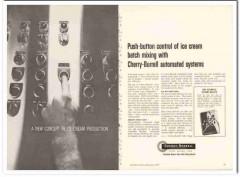 Cherry-Burrell Corp 1959 Vintage Ad Ice Cream Mix Push-Button Control