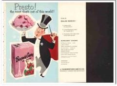 J Hungerford Smith Company 1959 Vintage Ad Ice Cream Burgundy Cherry