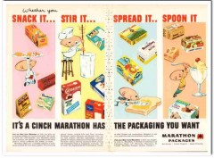 american can company 1959 marathon packaging ice cream vintage ad