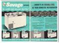 C V Hill Company 1959 Vintage Ad Ice Cream Cabinet Savage Trouble-Free