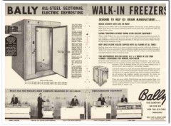 Bally Case Cooler Company 1959 Vintage Ad Ice Cream Walk-In Freezers