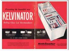 American Motors Corp 1959 Vintage Ad Ice Cream Kelvinator Glass Lid