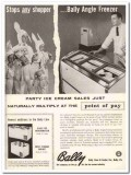 Bally Case Cooler Company 1959 Vintage Ad Ice Cream Angle Freezer Kids