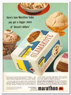 American Can Company 1959 Vintage Ad Ice Cream Marathon Glamakote Hifi